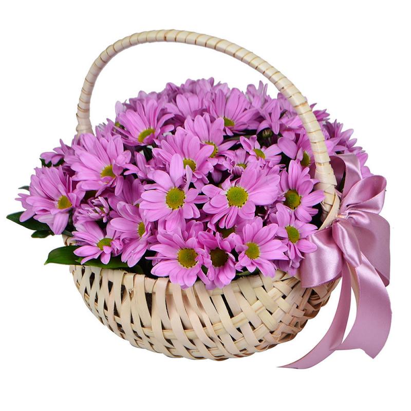 Открытка с днем рождения женщине корзина с цветами